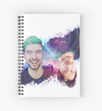 Mark & Jack Galaxy Watercolor White Background Spiral Notebook