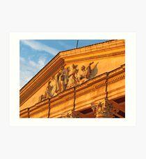 Some elements of Ukrainian architecture Art Print