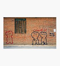 Love graffiti Photographic Print