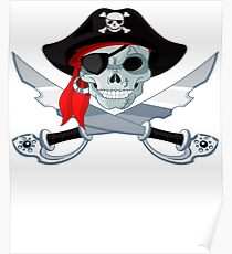 Pirate Skull with Swords  Poster
