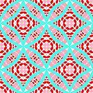 Aqua Circles by LoraineCallow