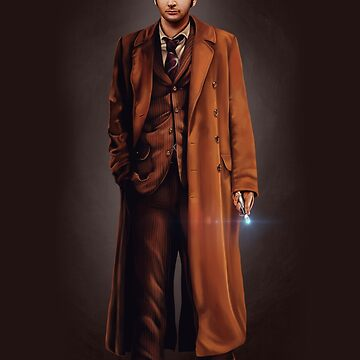 Tenth Doctor Full Body Portrait by sugarpoultry