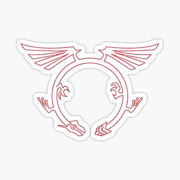 Crimson Dragon Mark Sticker
