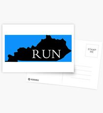 When you love to run and wanna represent your state! Postcards