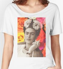 Frida Kahlo Roses Women's Relaxed Fit T-Shirt