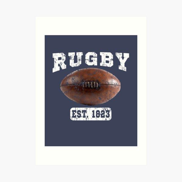 Rugby Vintage Ball Art Print