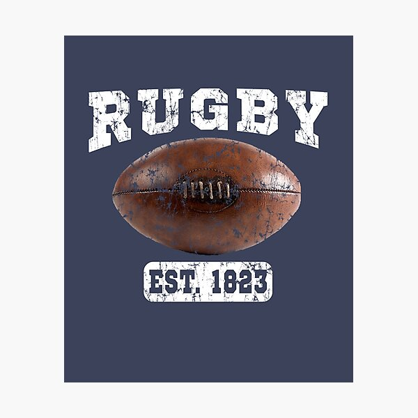 Rugby Vintage Ball Photographic Print
