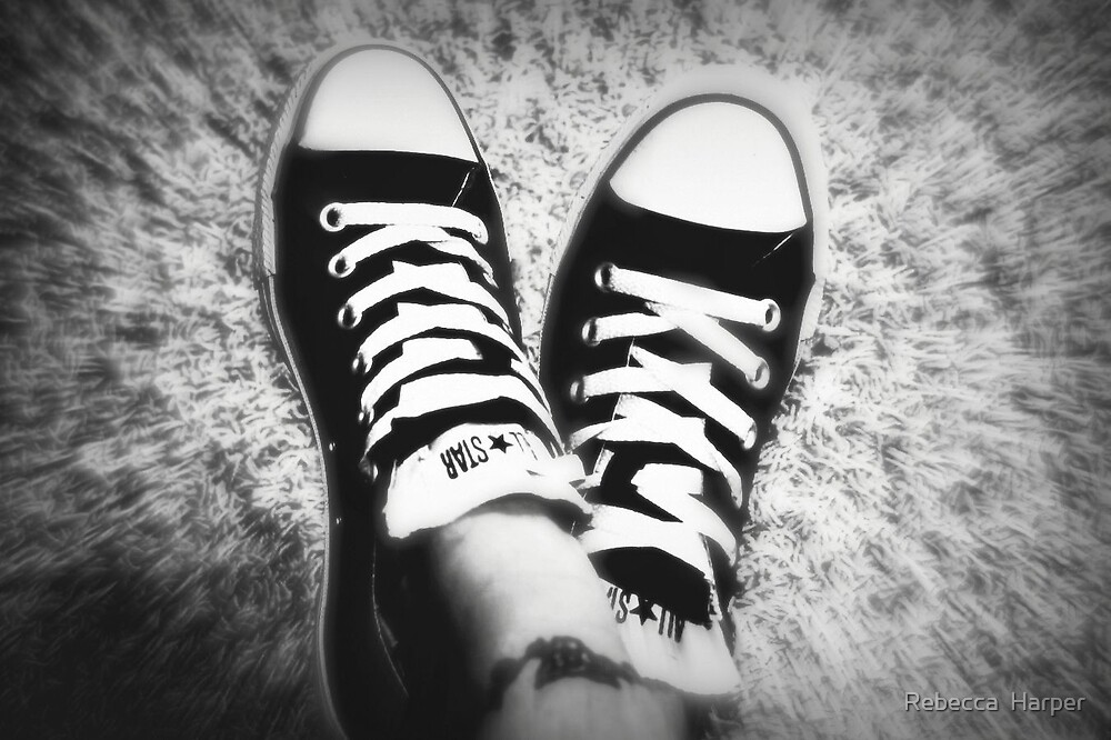 Chuck Taylors and Tattoo by Rebecca  Harper