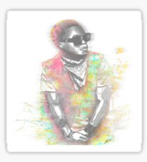 Lupe Fiasco Grey Splash Sticker