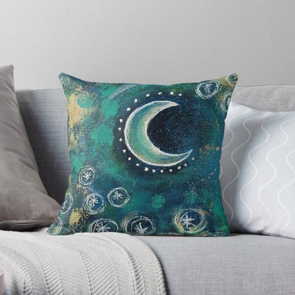 Tiny Work - Crescent Moon Throw Pillow