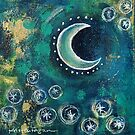 Tiny Work - Crescent Moon by Kristen Fagan