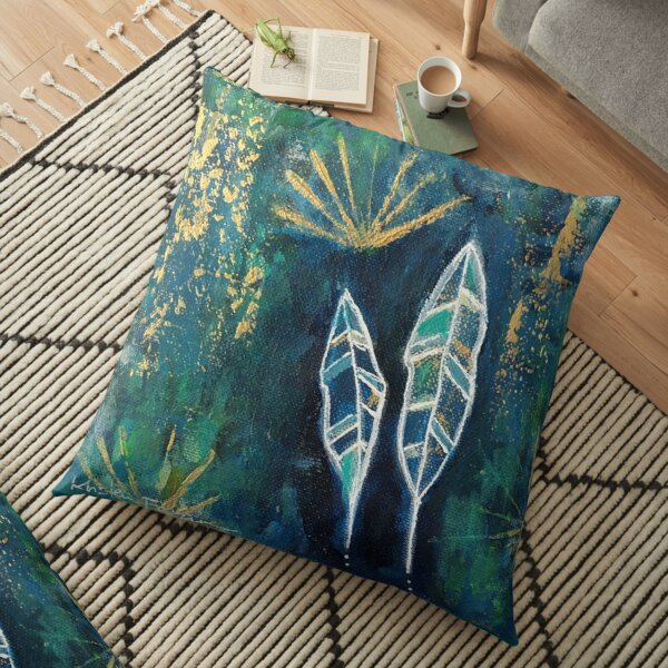 Tiny Works - Two Feathers Floor Pillow