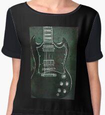 Gibson SG Standard Green Grunge Chiffon Top