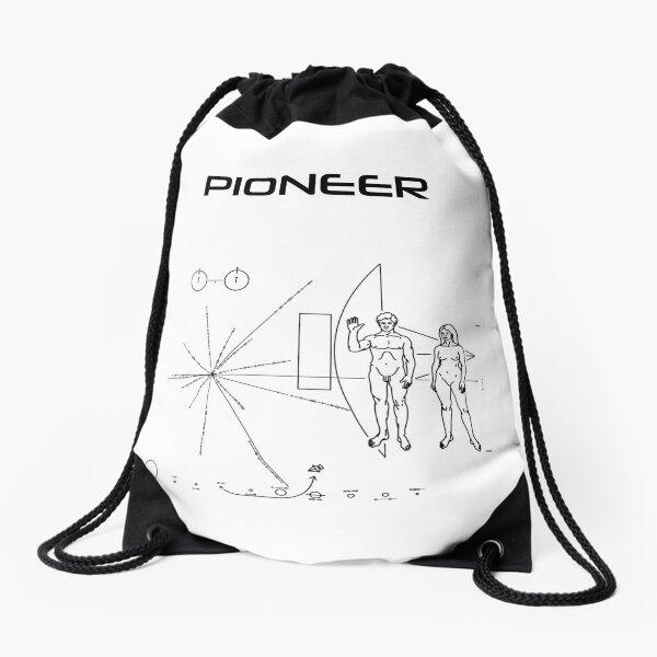 Pioneer Program - Black Ink Drawstring Bag