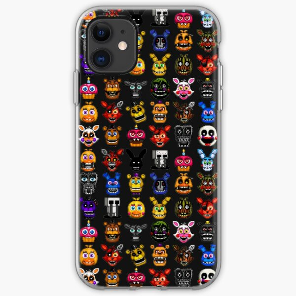 NEW - FNAF Multiple Animatronics - (Dec 2016) - Pixel art iPhone Soft Case