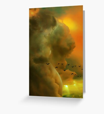 Cloudy Look Greeting Card