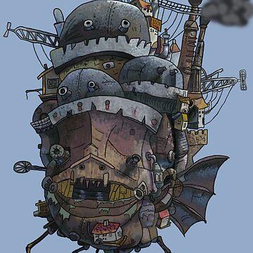Howl's Moving Castle by greeneggsandcam