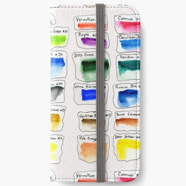 Watercolor Test Pallette iPhone Wallet