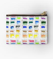 Watercolor Test Pallette Zipper Pouch