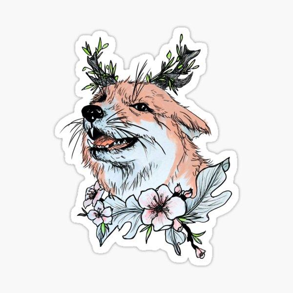 Juniper Fox, The Happiest Fox Sticker