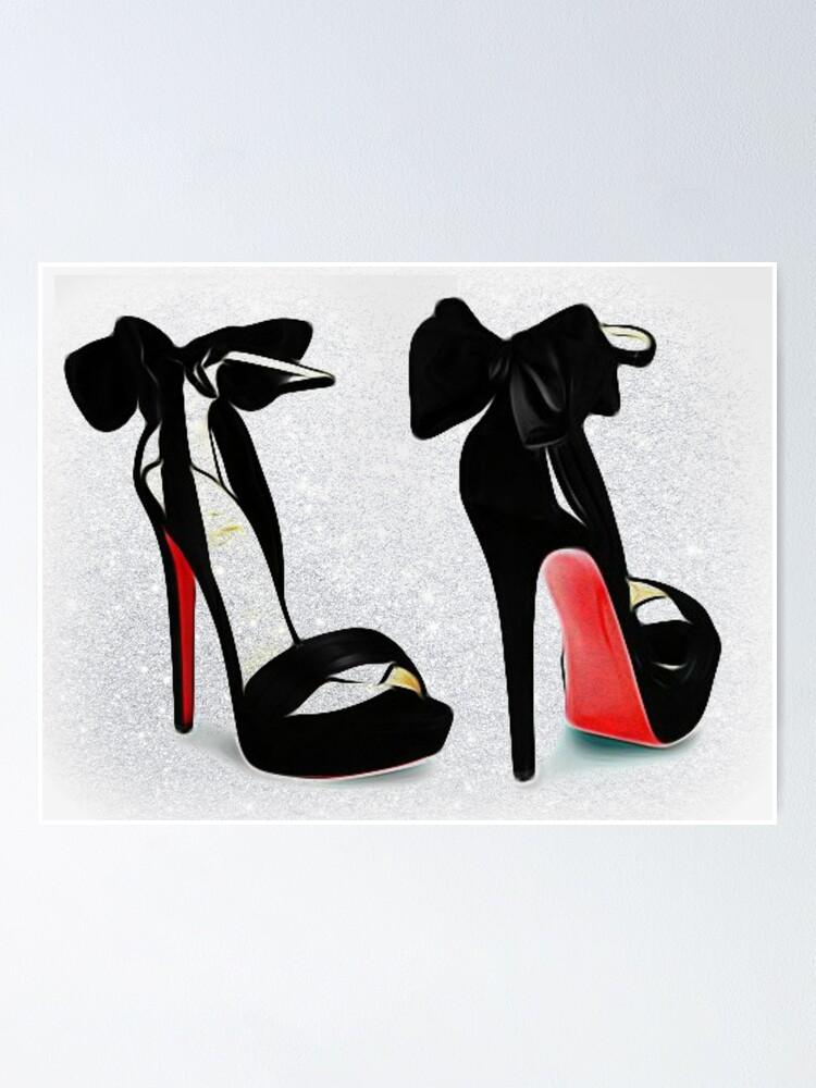 Fancy Bow Red Bottom High Heels
