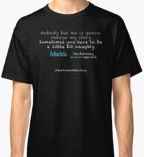 Nicht konforme Matilda - weißer Text Classic T-Shirt