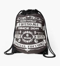 Awesome Since 2011 6th Birthday 6 Years Old Drawstring Bag