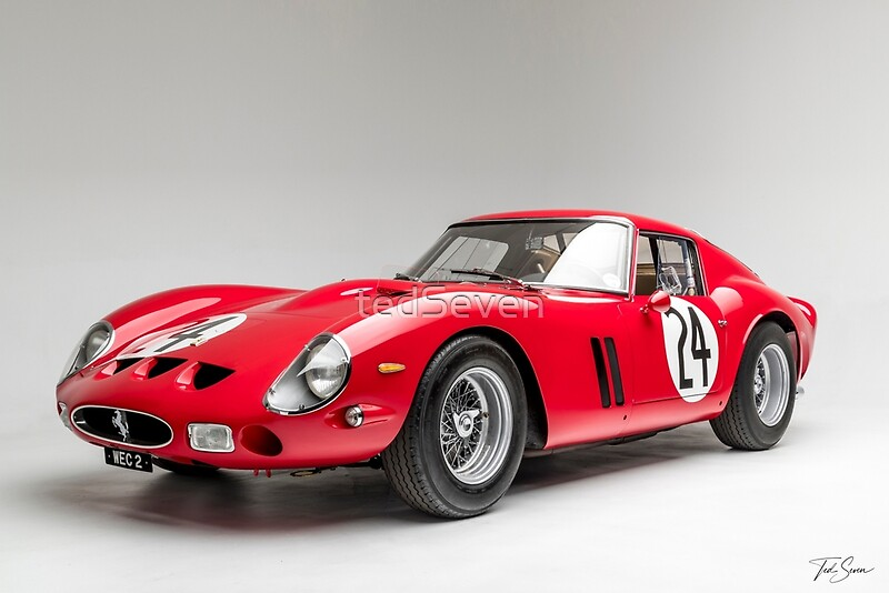 1963 ferrari 250 gto posters by tedseven redbubble. Black Bedroom Furniture Sets. Home Design Ideas