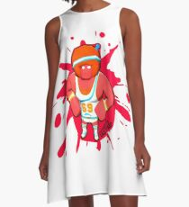Brutes.io (Gymbrute Baller Red) A-Line Dress