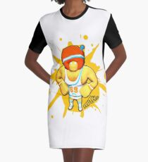 Brutes.io (Gymbrute Baller Yellow) Graphic T-Shirt Dress