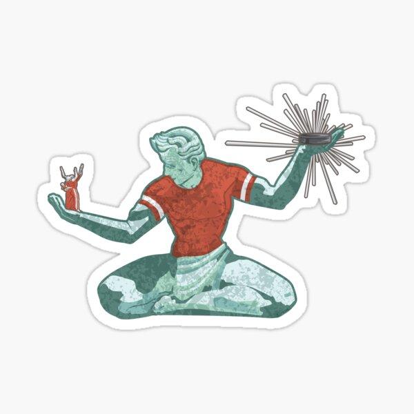 Spirit of Detroit Hockey Sticker