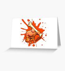 Brutes.io (Brute Caveman Orange) Greeting Card