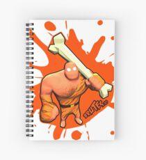 Brutes.io (Brute Caveman Orange) Spiral Notebook