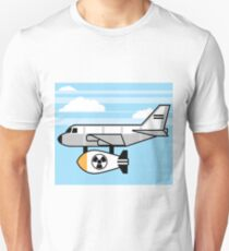 Nuclear bomb under the plane Unisex T-Shirt