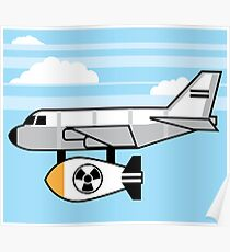 Nuclear bomb under the plane Poster