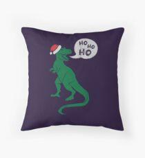 Ho Ho Ho - Merry T-Rex-Mas Throw Pillow