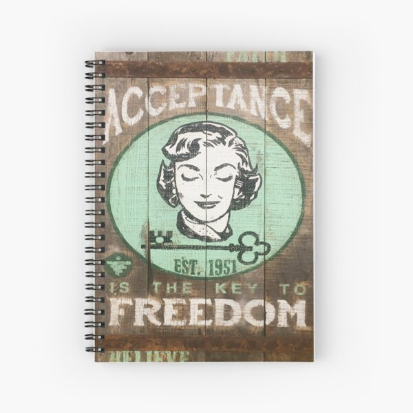 Acceptance is the Key to Freedom - Positive Pop Spiral Notebook