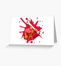 Brutes.io (Brute Caveman Red) Greeting Card