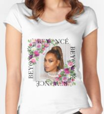 Beyoncé in Florals Women's Fitted Scoop T-Shirt