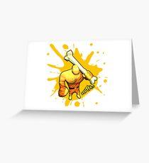 Brutes.io (Brute Caveman Yellow) Greeting Card