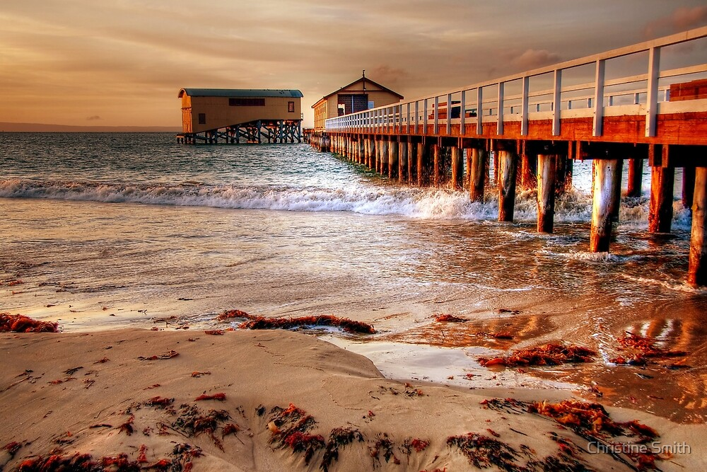The Queenscliff Pier and Lifeboat Complex, Victoria by Christine Smith