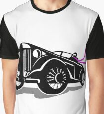 Vintage Roadster Scarf Retro Graphic T-Shirt