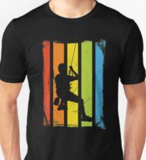 Rainbow Rock Climbing Distressed Unisex T-Shirt