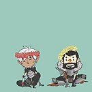 Fenris and Hawke by Bskizzle