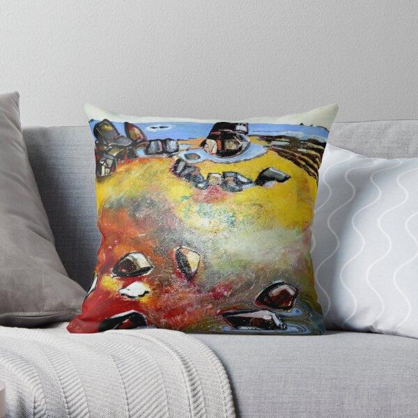 woolamai bay philip island Throw Pillow