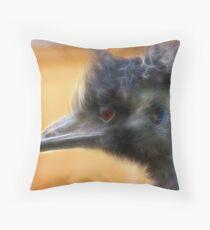 fractal emu Throw Pillow