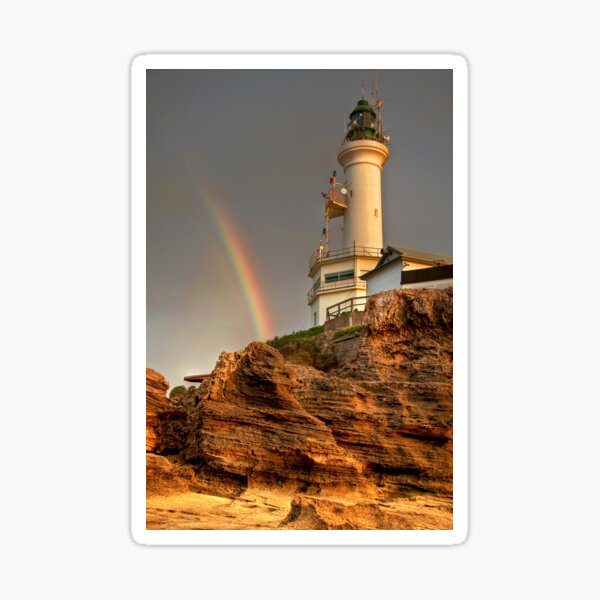 A Rainbow Beside Point Lonsdale Lighthouse, Victoria Sticker