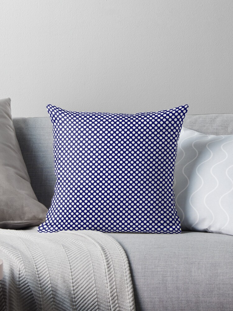 Navy Blue Polka Dots 2 by coverinlove