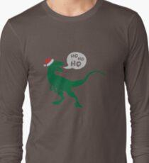 Ho Ho Ho - Merry Raptor-Mas Long Sleeve T-Shirt