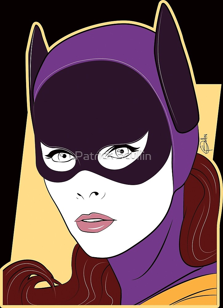 60s Bat Girl - Nagel Style by Patrick Scullin